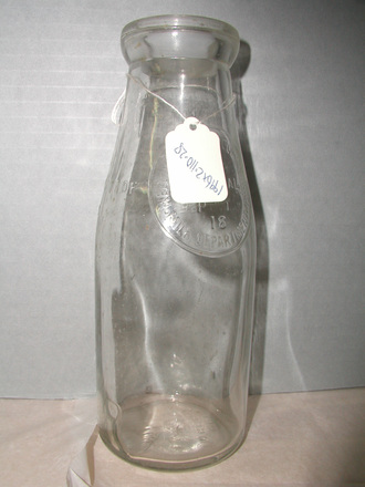 Milk Department, Wellington, one pint glass bottle [1996x2.110.28]