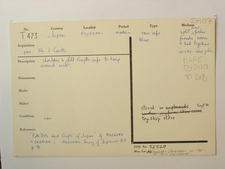 accession card