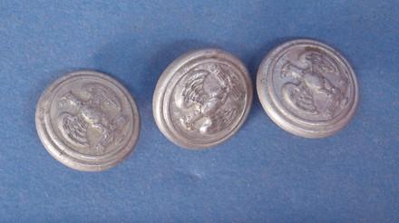 German uniform buttons, WW2 [2007.78.38] - front view
