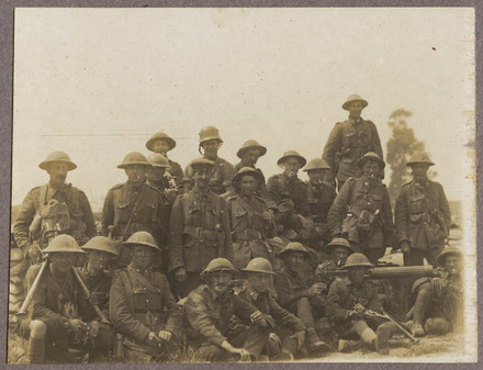 A machine gun company. One of the first through Messines.