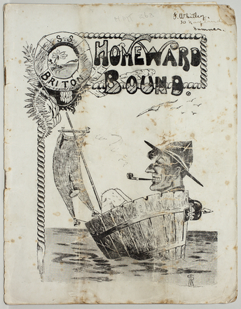 "Homeward bound : a souvenir of the H.M.N.Z.T. ""Ruahine"", Nov-Dec 1919"