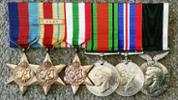 SSgt W C Simonsen Medals - No known copyright restrictions.