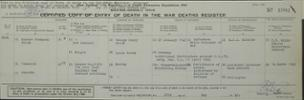 Military death certificate found lodged with Harold's Will and Probate. He was in Stalag VIIIA but died in the Reserve Lazaret in Waldenburg, Saxony  - 1 - 2 hours west of VIIIA. - No known copyright restrictions.