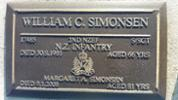 17485 W C Simonsen and Wife's Headstone located at  Anderson's Bay Cemetery, Dunedin. - No known copyright restrictions.