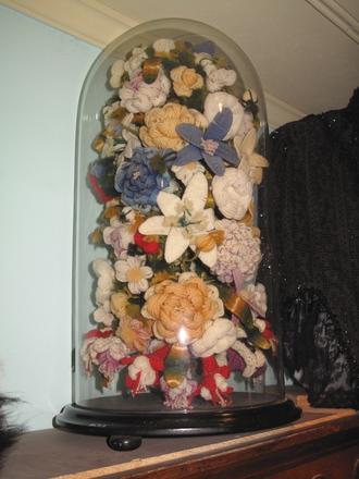flower arrangement, woollen