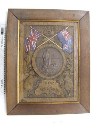 memorial medal, framed