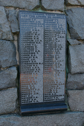 Name panel, WW1, Devonport War Memorial (photo J. Halpin 2012) - No known copyright restrictions