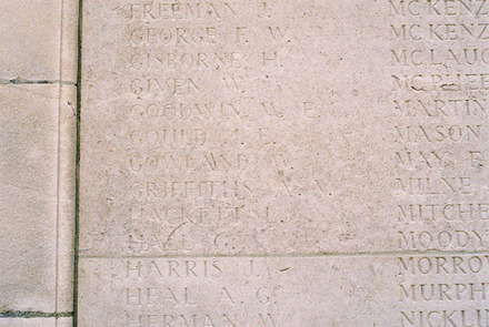 Tyne Cot Memorial, Tyne Cot Cemetery, Zonnebeke, Belgium (photo B.G. Knights, 2009) - No known copyright restrictions