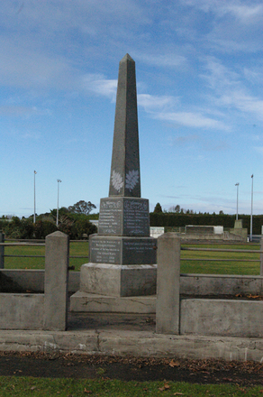 Maungakaramea War Memorial, Tangihua Road (June 2010) - No known copyright restrictions