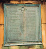 Auckland Grammar School War Memorial, Panel 1, bronze plaque, names Hardie - Lynch (Photo P. Baker 2008) - No known copyright restrictions