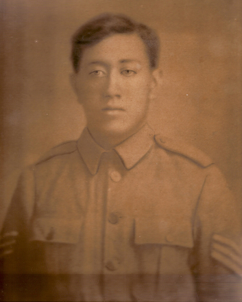 Portrait, (Photograph kindly provided for Cenotaph by family and delivered by H. Wichman Vice President Cook Islands RSA 2009) - No known copyright restrictions