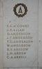 Auckland War Memorial Museum, South African War Memorial 1899-1902, Name panel A: A'Court, S.C. - Arkell, C.A. (photo John Halpin, December 2011). - CC BY John Halpin