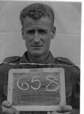 Duncan McKenzie as a Prisoner of War in camp XVIIIA - This image may be subject to copyright