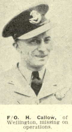 H. Callow, portrait from The Weekly News; 18 October 1944 - This image may be subject to copyright