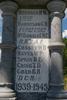 Drury-Runciman War Memorial name panel beginning with Bremner (image J Halpin 2010) - This image may be subject to copyright