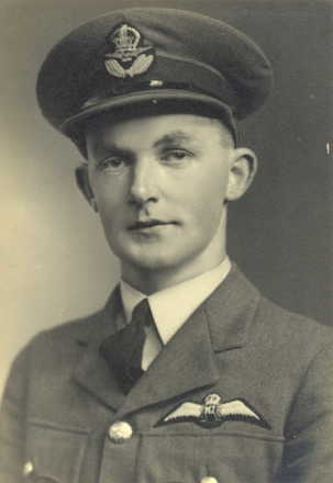 T. Johnson, portrait, RNZAF uniform and cap - This image may be subject to copyright