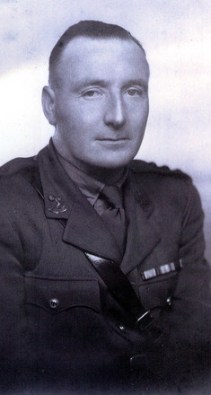 Portrait with medal ribbons (kindly provided by family) - This image may be subject to copyright