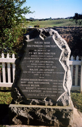Mauku New Zealand Wars Memorial (photo Paul F. Baker 2009) - No known copyright restrictions