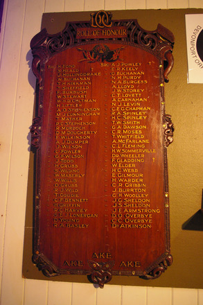 Roll of Honour, Lodge of Oddfellows, held in the Devonport Museum (photo J. Halpin October 2012) - No known copyright restrictions