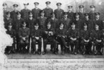 Group Photo, WW1, Auckland Sub-Lieutenants of the Royal Naval Volunteer Reserve who are attending the Royal Naval College Greenwich. From left to right : Back row – J.T. Merry , H.A. Le Pine , R. Philson , G. S. Reid , W.I. Nolan , W.R. Ingram V.W. Back, L. Jenkinson, T. C. Webster. Middle row – E.C. Alexander, A.E. Choyce, C. Reston, T.E. LeHoquet, W.A .Smith, J. C. Hewson, S, H. G. McIlveen, C. Freyberg, Front row - A. V. Swales, D. V. Hanna, Lieutenant J. O. Ingram R.N.R. Capt W. H. Montanaro, R.N.R. Lieut. W.J. Le Lacheur (members of the college staff) C. Leys, C.F. Foote, and R.P.H. Mays. (Copyright © Royal New Zealand Navy Museum. Photo number ABX 0015. All enquiries for use: https://forms.nzdf.mil.nz/navy/museum/contactform.asp )