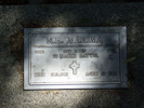 Image of Gravestone at Rotorua Cemetery provided by Paul Baker in February 2013 - This image may be subject to copyright