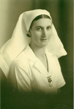 Portrait, WW2, Elizabeth Wilson, nursing uniform (kindly provided by family) - This image may be subject to copyright