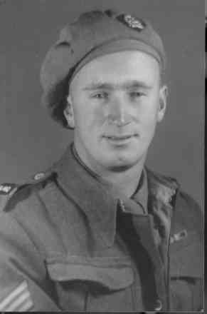Portrait, Sergeant E Batchelor (DCM.M. and MiD). On the back is written ' With Love. To Mum and Dad. Eric 29.11.44' - This image may be subject to copyright