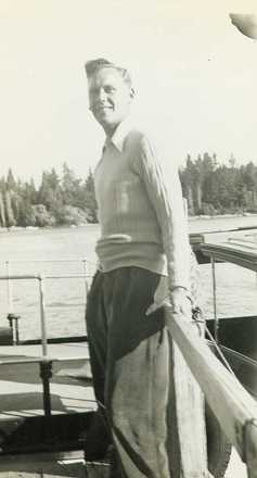 Gordon Briggs in civilian clothes - This image may be subject to copyright
