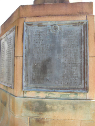 Auckland Grammar School WW1 panel Names Davis - Hamilton (photo January 2011) - No known copyright restrictions