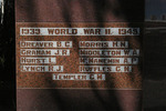 World War 2 Name panel, Newmarket War Memorial, Newmarket, Auckland (photo John Halpin, 28 May 2011) - CC BY John Halpin