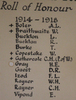 Detail, WW1 names, Roll of Honour, Loyal Warkworth Pioneer Lodge M.U.I.O.O.C., Warkworth & District Museum - No known copyright restrictions