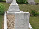 Detail headstones (war grave and subscription), Cyril Fuller Carey, Tidworth Cemetery (photo kindly provided by Sara Yard-Young) - No known copyright restrictions
