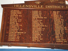 Helensville District High School (Kaipara College) Roll of Honour, Name columns 3, on the left hand side: Cox-Downer A.J.; Downer A.F. - Hill G.R.; Hill B.R. - Leaming (photo G.A. Fortune April 2010) - Image has All Rights Reserved