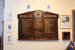 View, in situ, Roll of Honour, Ahuroa, WW1 and WW2, Warkworth RSA (photo J. Halpin January 2013) - No known copyright restrictions