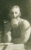 Portrait, Bill Smeith drinking from a tin cup (kindly provided by W Smeith's daughter) - This image may be subject to copyright
