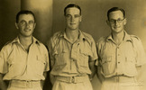 Group of soldiers, Buster Tippett, Gordon William Ross, Ray Morra in Auckland, provided by Robyn Clarkson. - This image may be subject to copyright