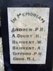 Sanson School Memorial, In Memorium marble plaque, names Andrew - Good (photo G. Fortune) - Image has All Rights Reserved