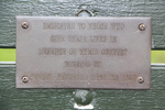 Dedication plaque, War Memorial seat, Stockade Hill, Howick (photo J. Halpin August 2013) - No known copyright restrictions