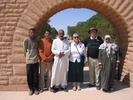 Group photograph including Mohammed Hanesh (Key Keeper) with his wife and two cemetery attendants, and Mr and Mrs Downing, March 2005. - This image may be subject to copyright