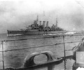 HMS Suffolk 1st Cruiser Squadron, at sea - This image may be subject to copyright