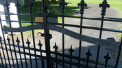 Detail, Memorial gates, Katikati (photo G.A. Fortune, March 2013) - Image has All Rights Reserved