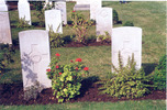 Wide view, headstones, Cairo War Memorial Cemetery, photographed 1993 (kindly provided by family) - No known copyright restrictions