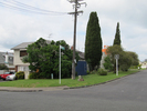 View of street with memorial stone and street sign, Brown Street, Takapuna (photo: Sarndra Lees, 2013) - Image has All Rights Reserved.