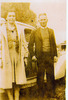 Portrait, Harry and Agnes Mohr, taken beside a car - This image may be subject to copyright