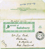Envelope of 25 August 1916, Souvenir of Salisbury, England from Harold Babe to his sister, Isa Babe, Waikiekie, North Auckland (provided by David Simpkin) - No known copyright restrictions