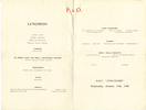 Menu, inside pages: HMT Strathhaird (P&O), Porchester Castle illustration, dated Monday January 17th 1940. Image may be subject to copyright restrictions.