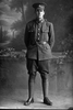 Full portrait of Private Eric Bagnall, Reg No 26762, of the Auckland Infantry Battalion, - A Company, 17th Reinforcements. (Photographer: Herman Schmidt, 1916). Sir George Grey Special Collections, Auckland Libraries, 31-B1430. No known copyright.