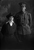 3/4 portrait of Private Eric Bagnall, Reg No 26762, of the Auckland Infantry Battalion, - A Company, 17th Reinforcements, and a lady friend. (Photographer: Herman Schmidt, 1916). Sir George Grey Special Collections, Auckland Libraries, 31-B1431. No known copyright.