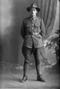 Full length portrait of Trooper Samuel Boler, Reg No 62242, New Zealand Mounted Rifles, - 32nd Reinforcements (Photographer: Herman Schmidt, 1917). Sir George Grey Special Collections, Auckland Libraries, 31-B3564. No known copyright.