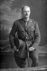 3/4 portrait of Captain Morton, probably Alfred Bishop Morton, Reg No 10/512, of the Main Body, wearing campaign medals. (Photographer: Herman Schmidt, 1916). Sir George Grey Special Collections, Auckland Libraries, 31-M856. No known copyright.